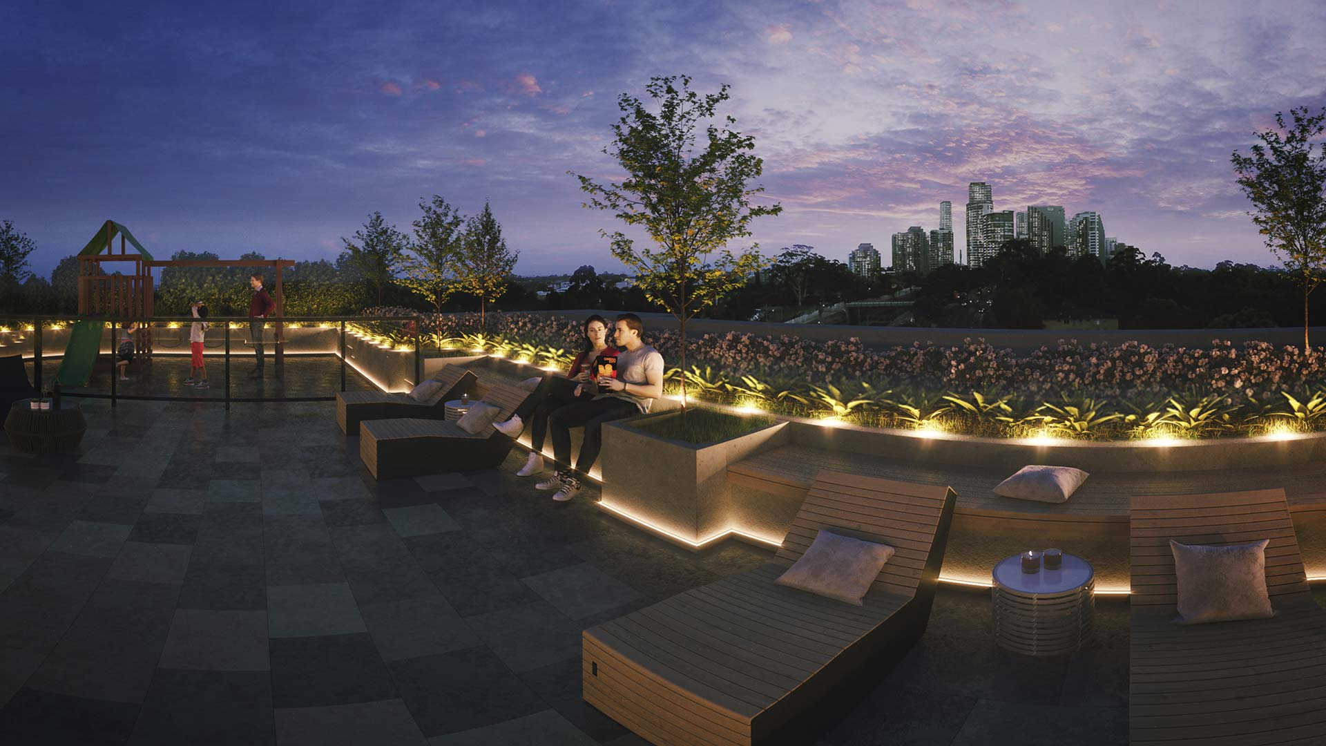 Chatswood Rose VR Rooftop View