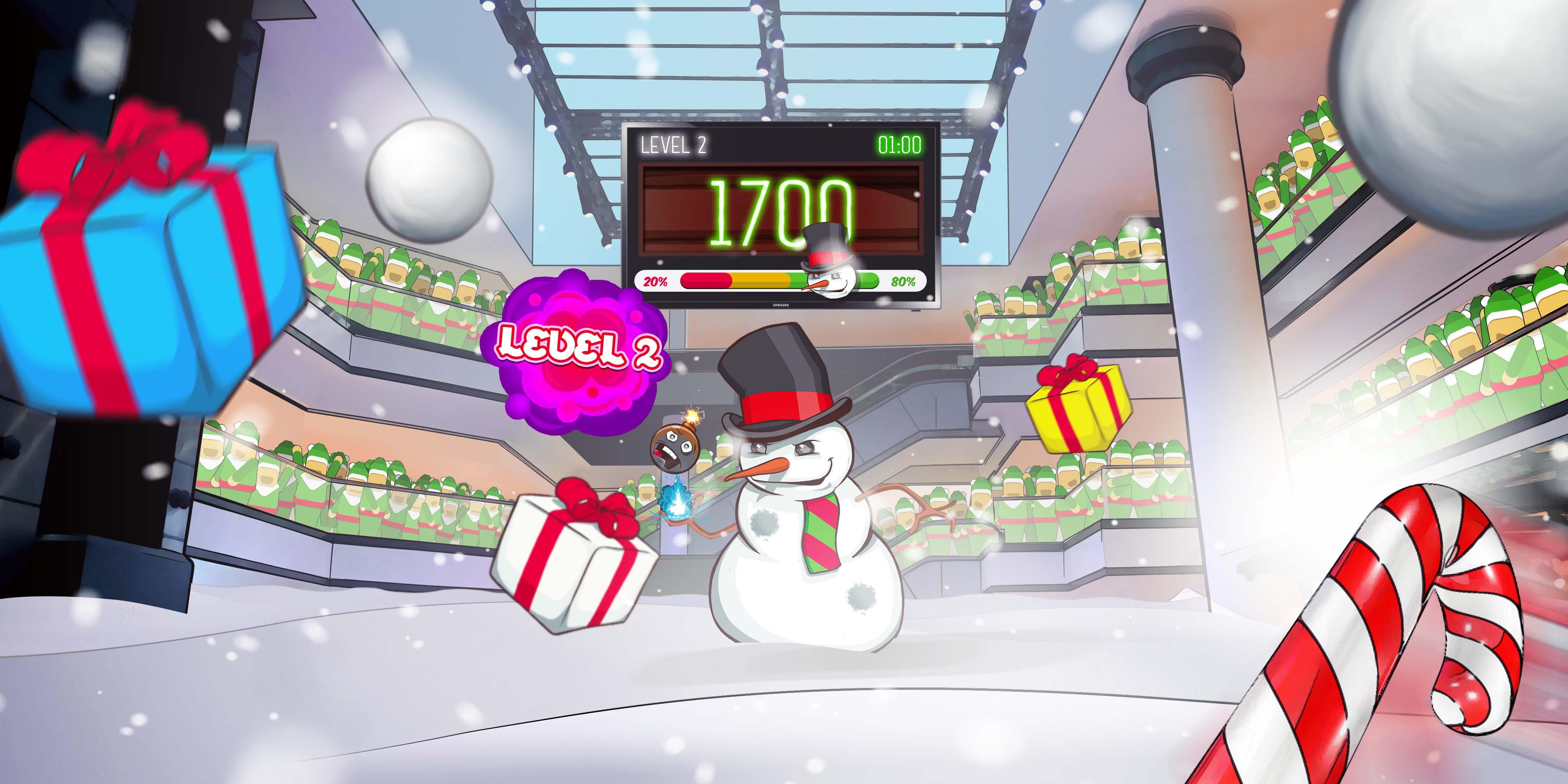 Market City Candy Cane VR Fight