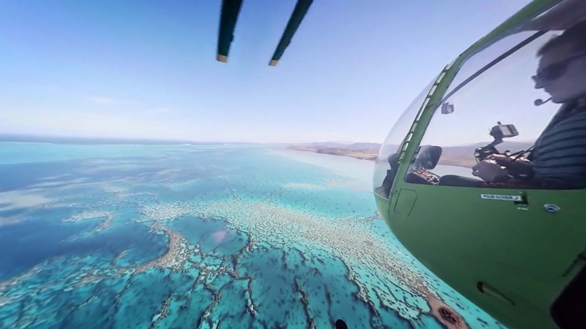 New Caledonia VR Helicopter View