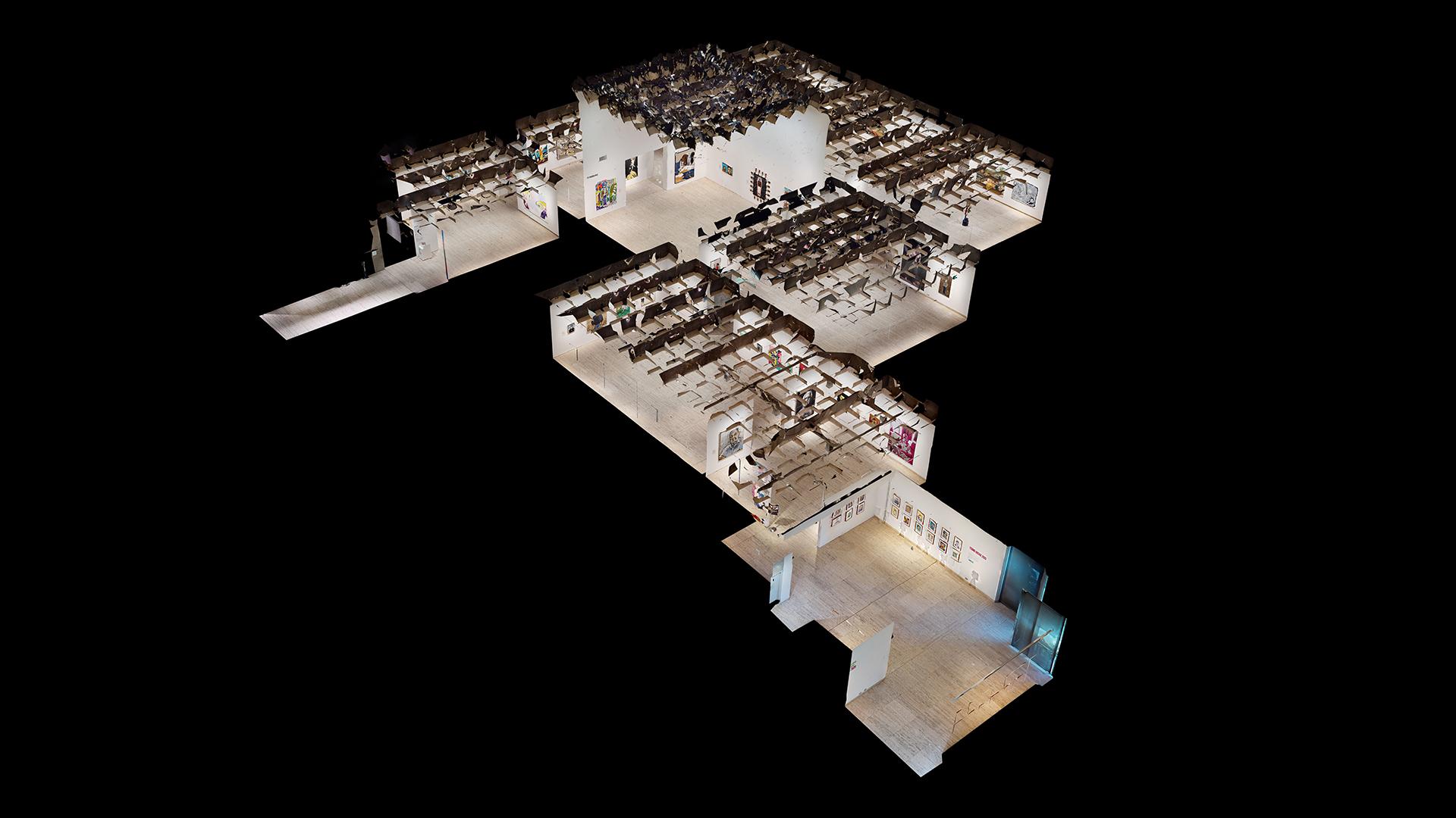 Archibald Prize Virtual Tour Matterport Dollhouse View