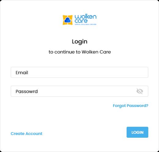 Wolken Care login Page