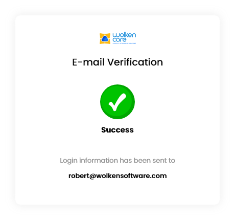 Wolken Care E-mail Verification