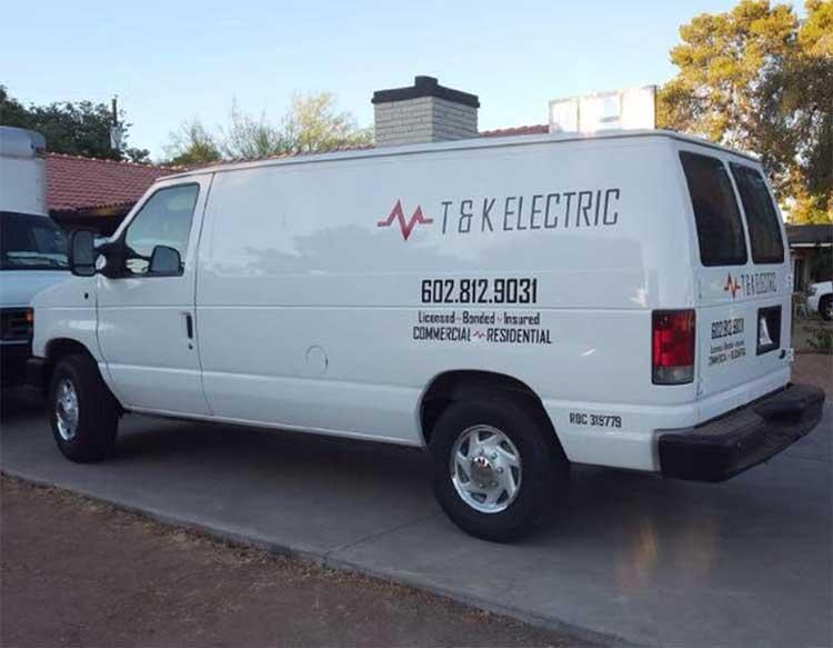 t&k electric service van