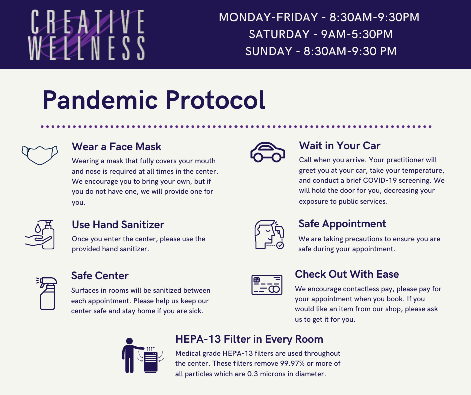 Pandemic Protocol at Creative Wellness