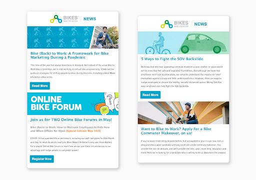 Bikes Make Life Better newsletters