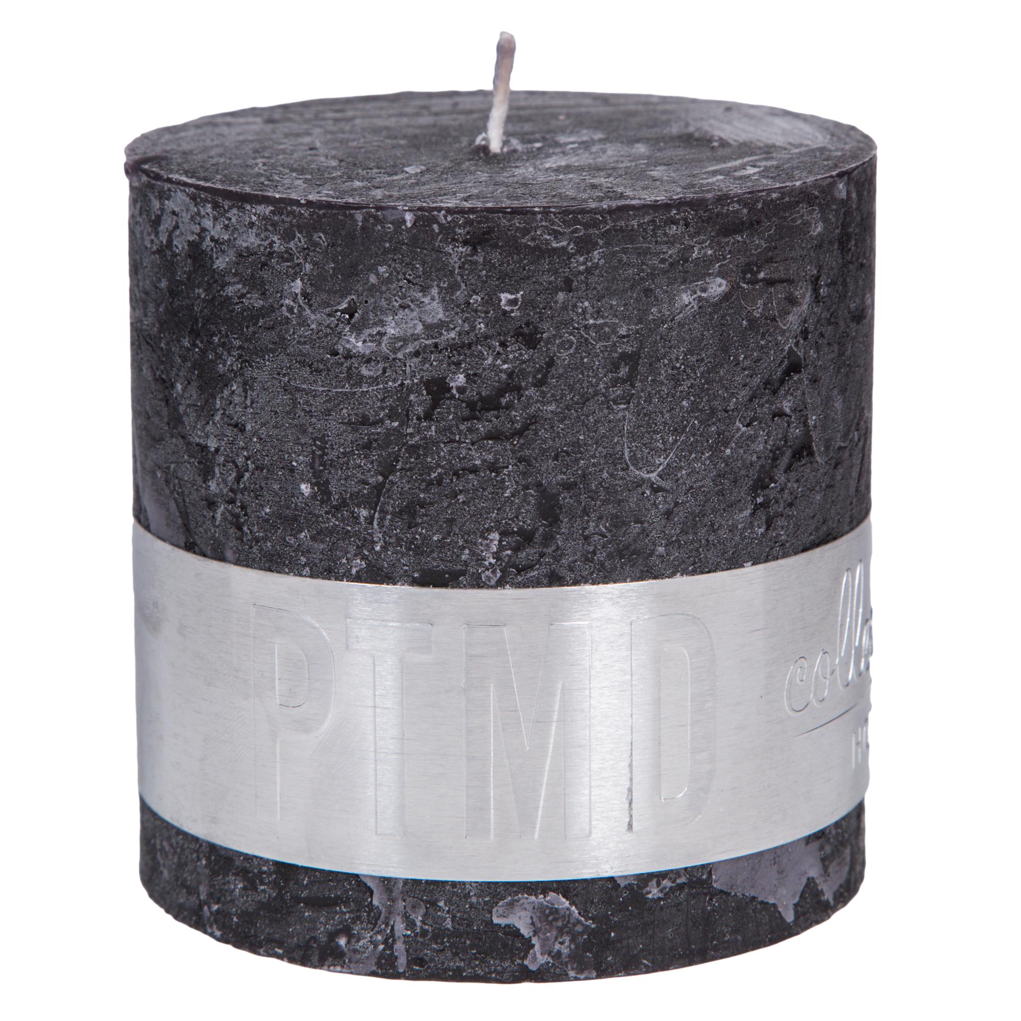 Rustic Kerze schwarz