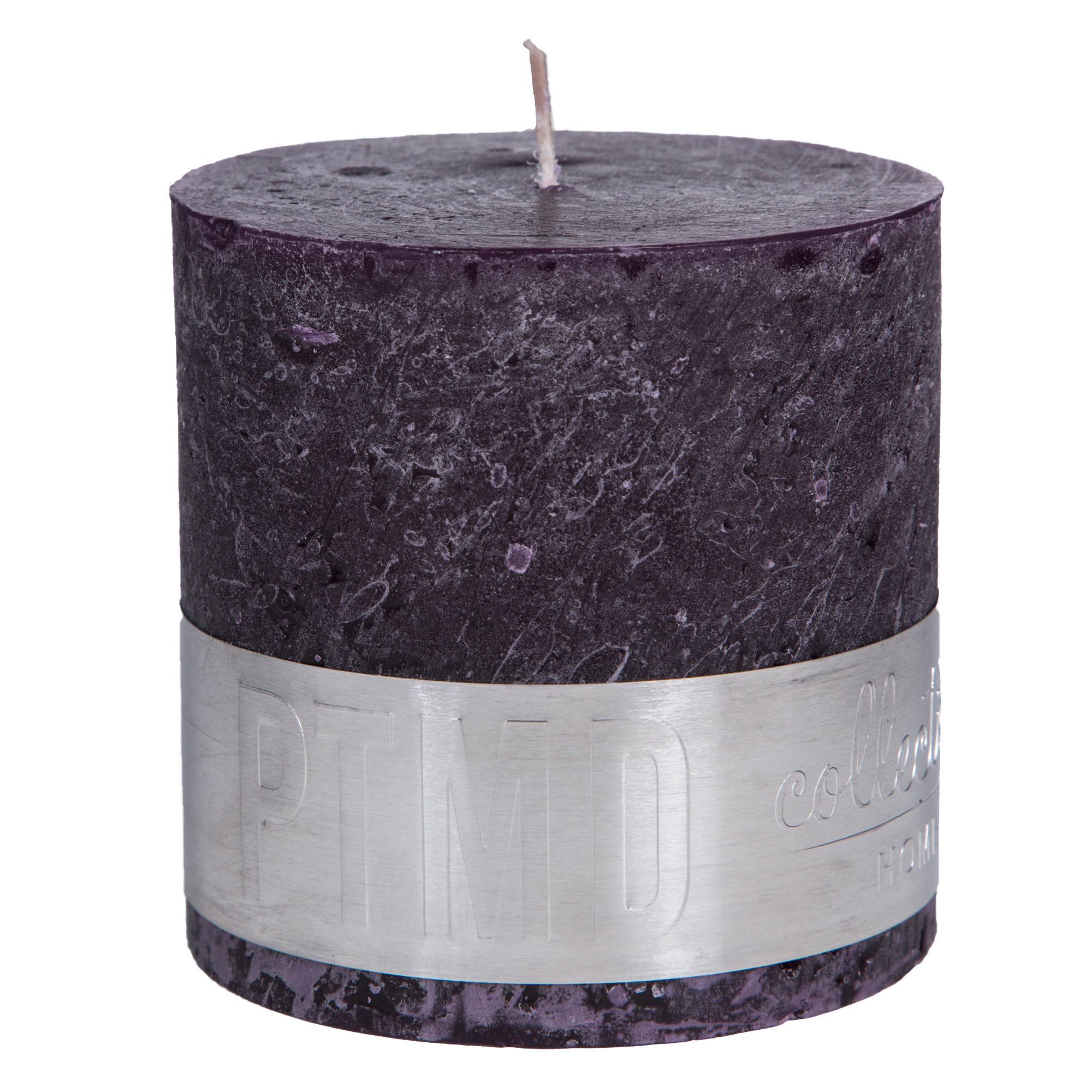 Rustic Kerze violett
