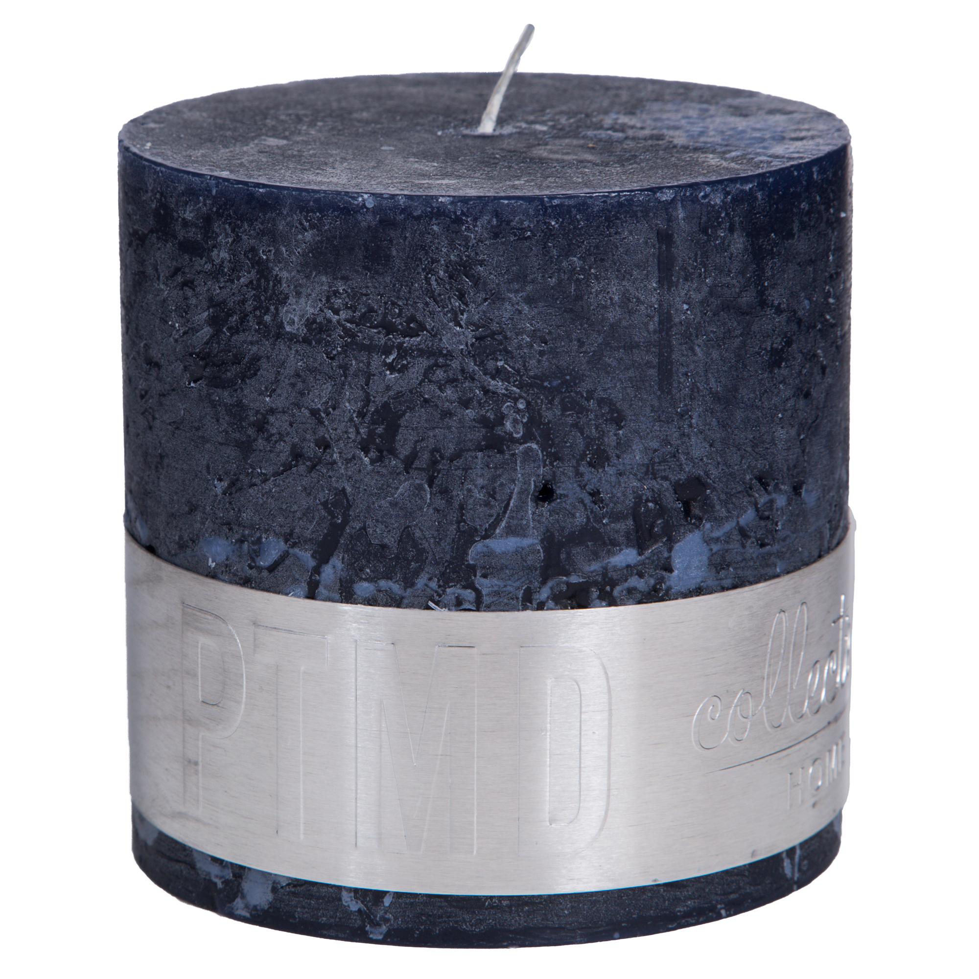 Rustic Kerze dunkelblau