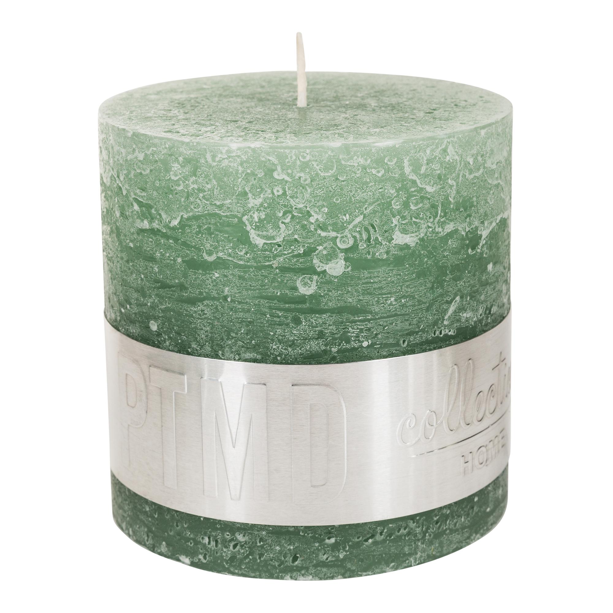 Rustic Kerze grün
