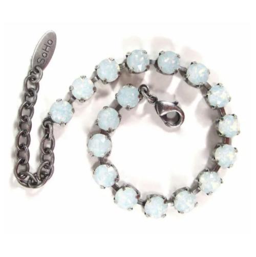Armband white opal
