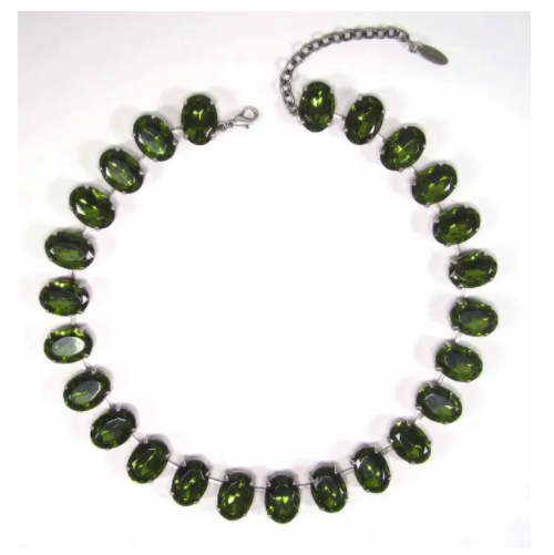 Collier oval olivine