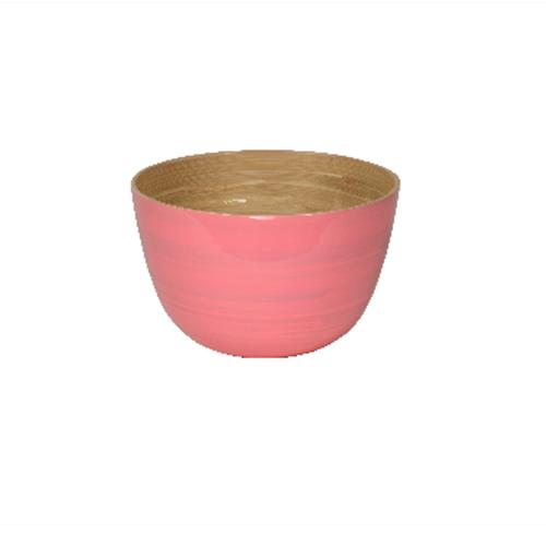 Bambusschalen rosa