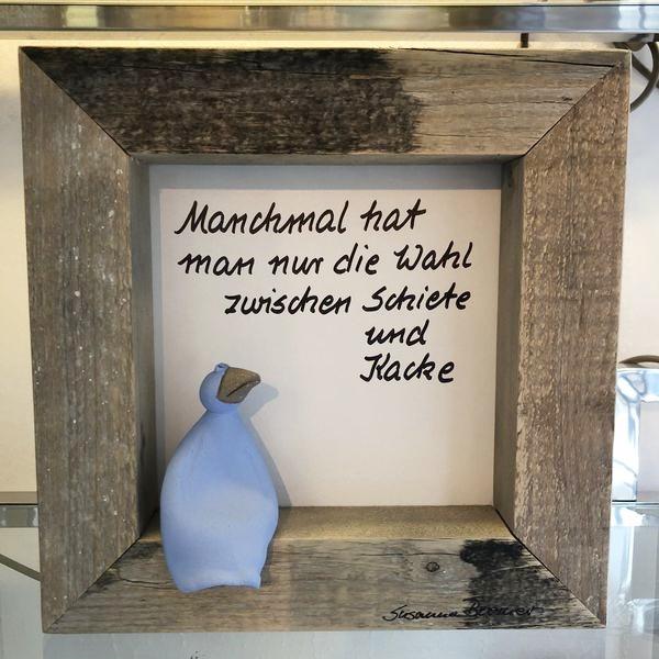 "Wandbild ""Schräger Vogel"""