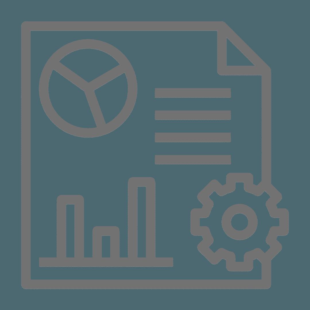 KPI tracking icon.
