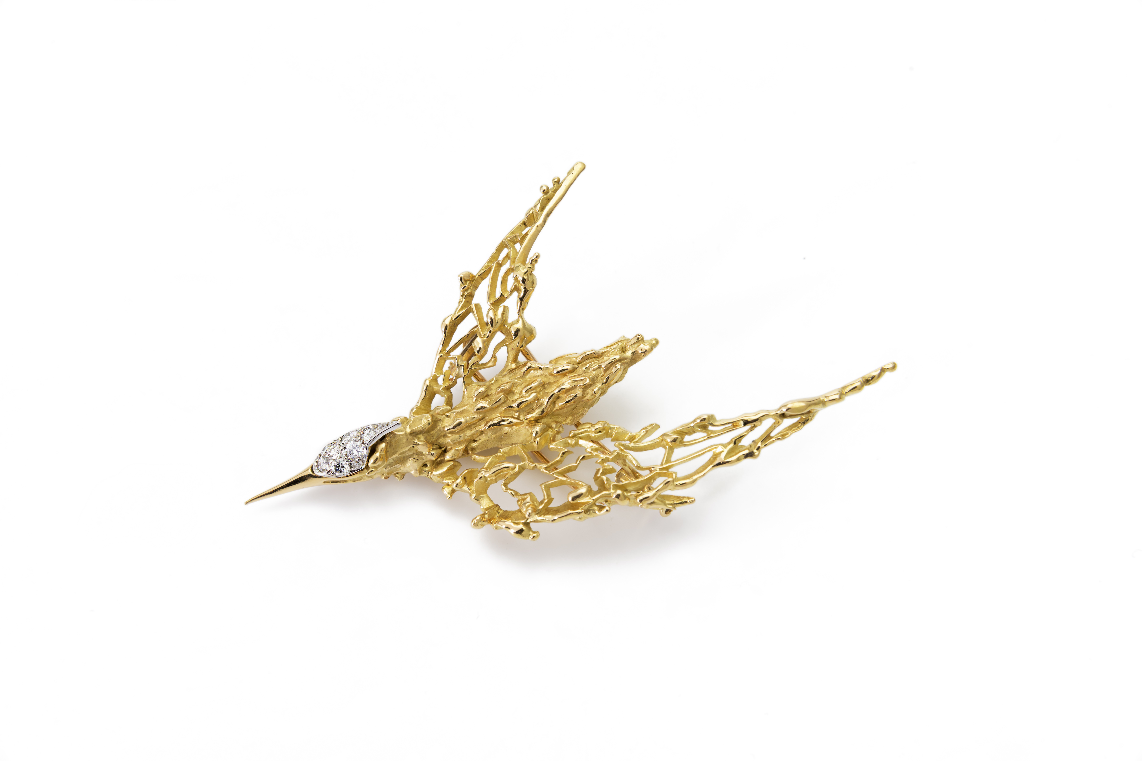 Kunstwerk goud vogel