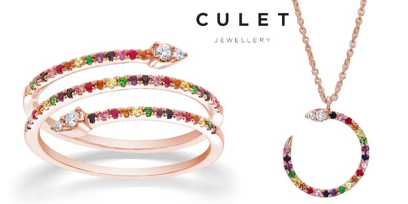 Culet Jewellery: Nieuwe kleurrijke gouden sieraden