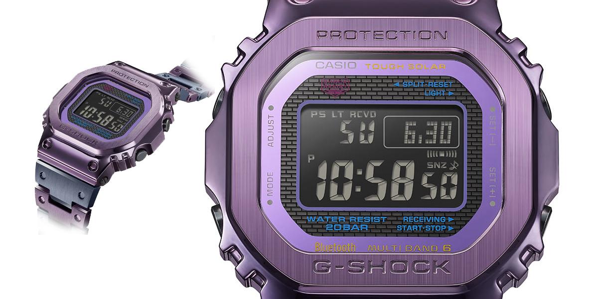 De schemering van Tokio gevangen in een horloge