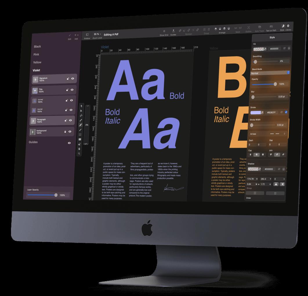 Editing PDF in Vectornator