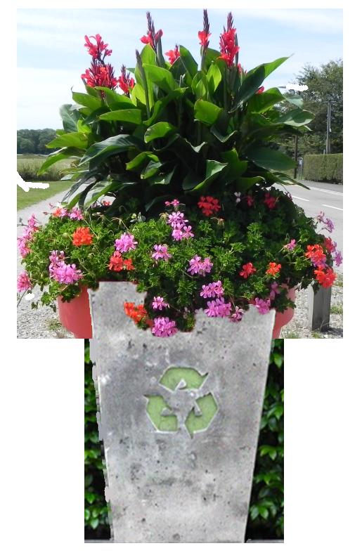 Pot de fleur en béton recyclé simax