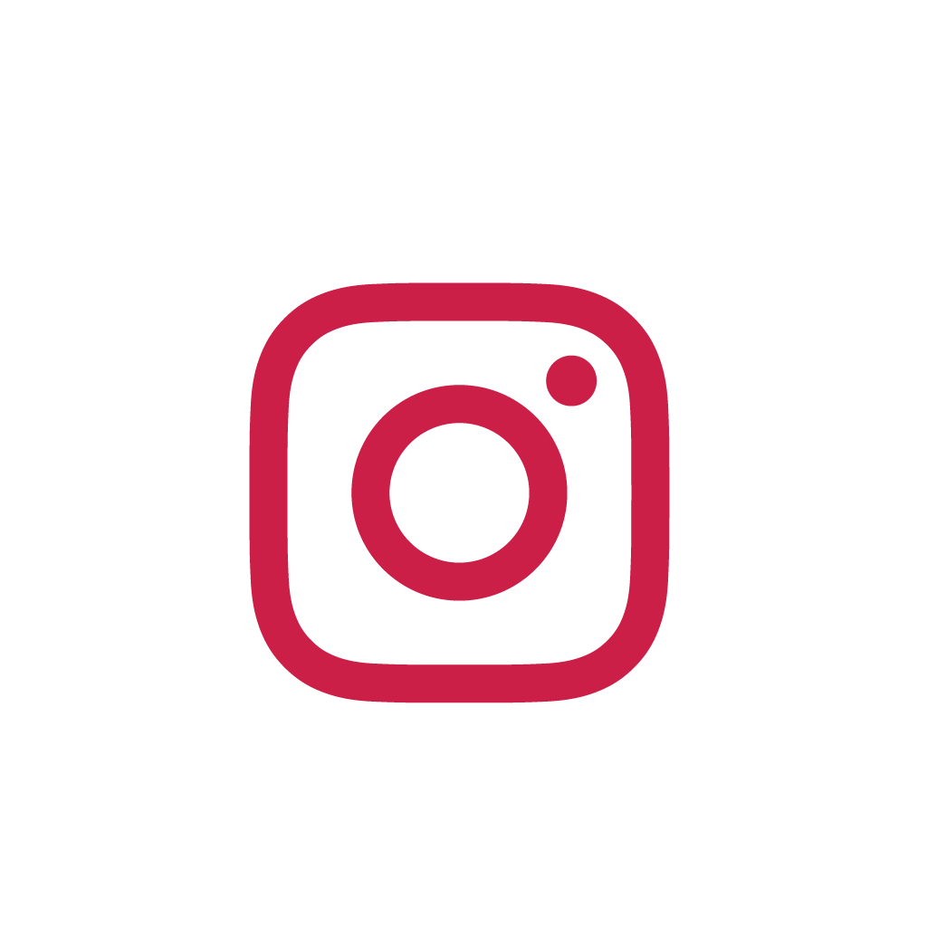 White/red Instagram icon