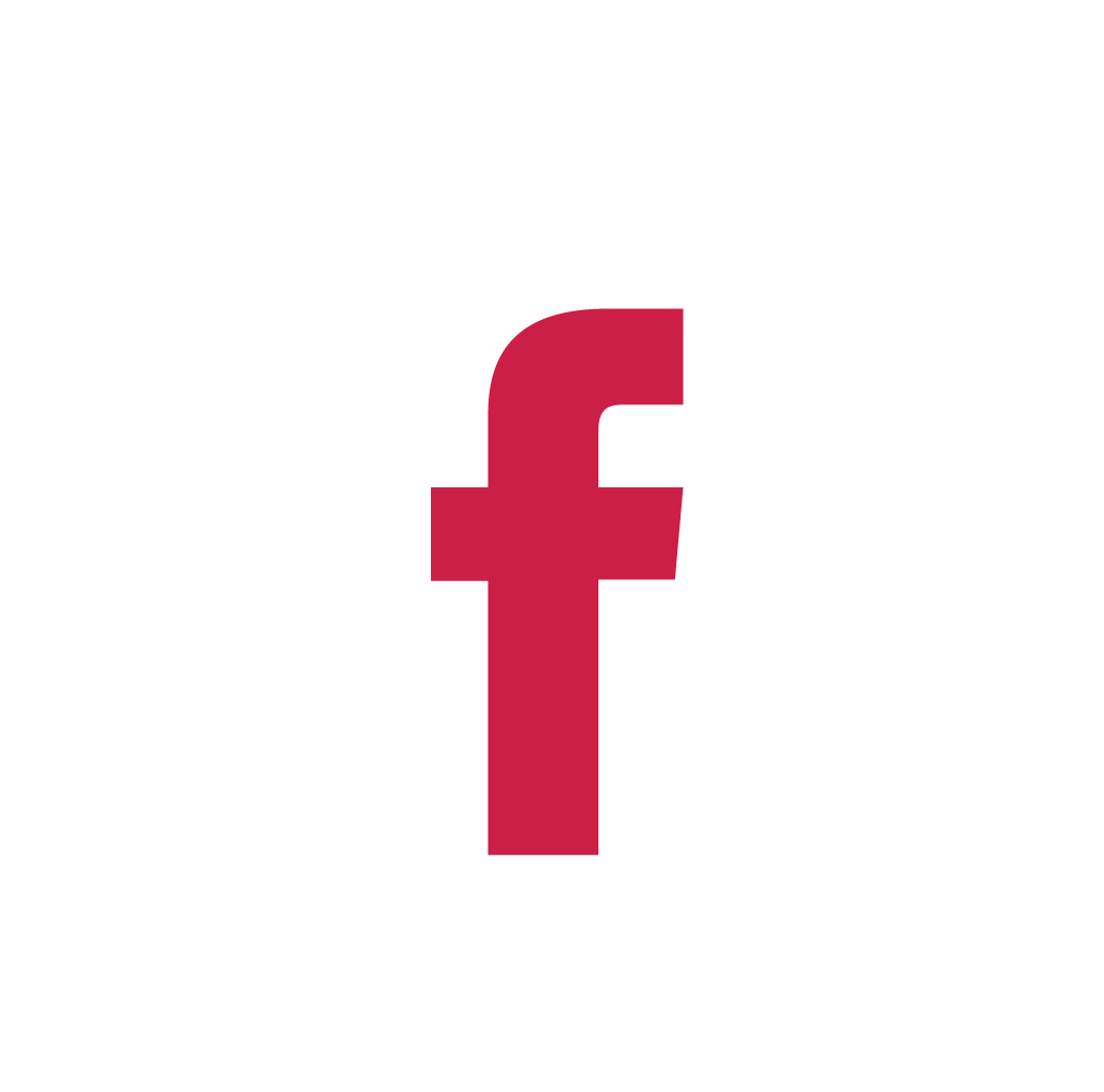 White/Red Facebook icon