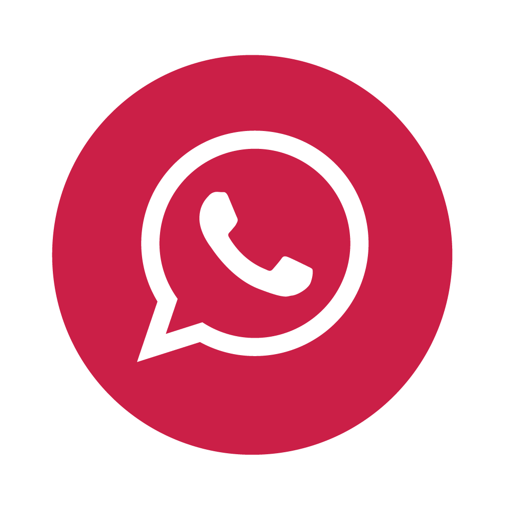 Red WhatsApp icon