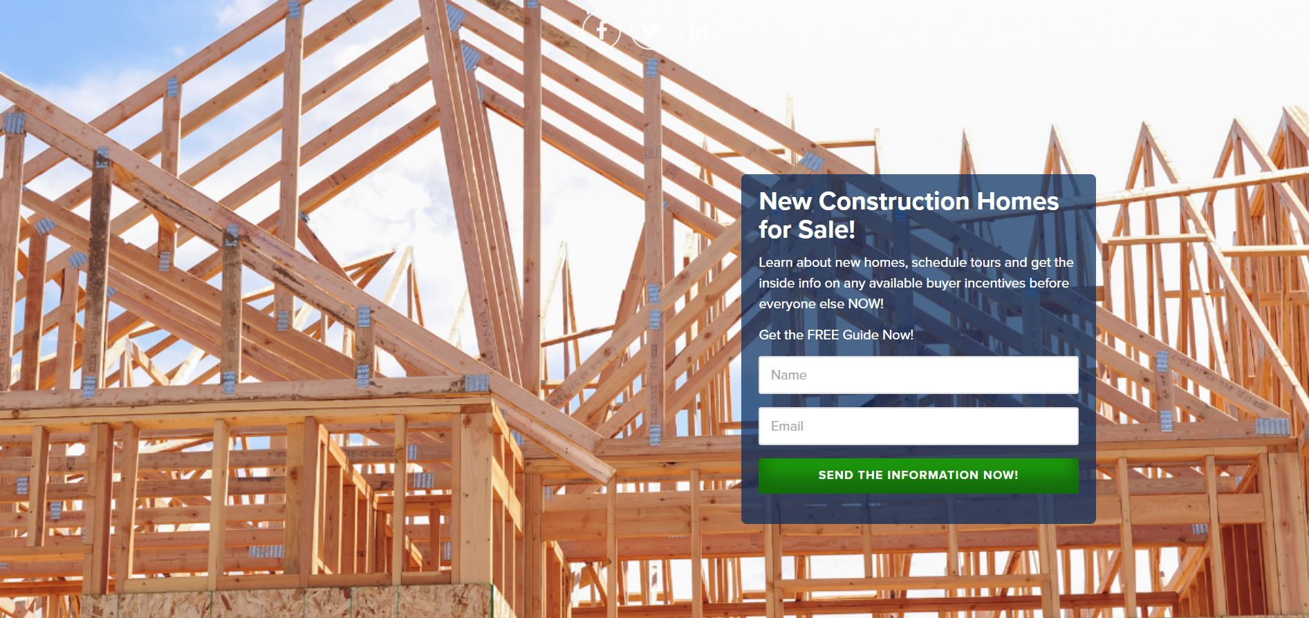 New Construction Landing Page.