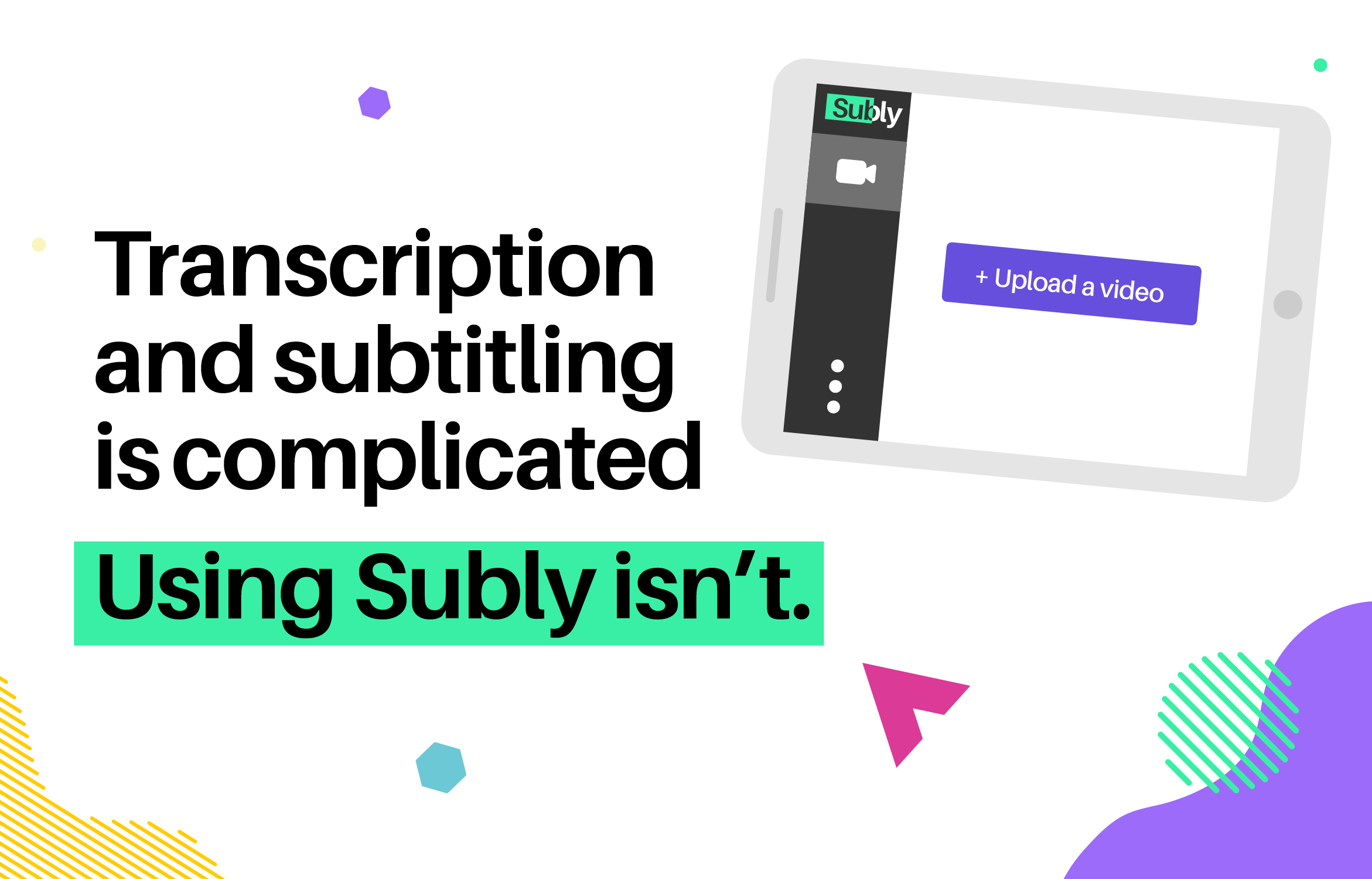text image transcription and subtitling is complicated using subly isn't