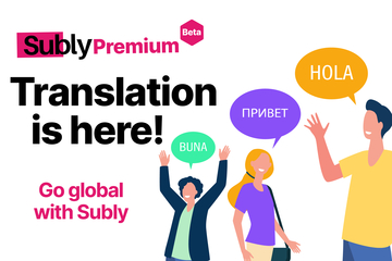 Go Global, reach more audiences online with translated content. Try translating your content in subly translation beta into any languages