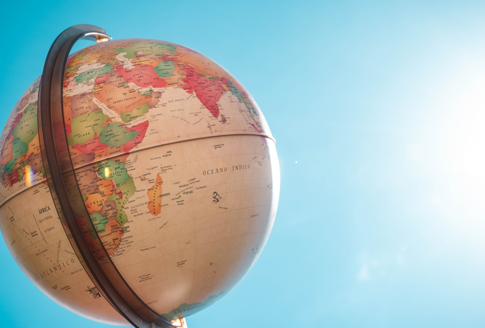 image of globe to show translation and international markets and reach