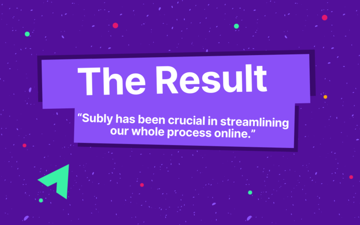 text, The Result, Subly has been crucial in streamlining our whole process online
