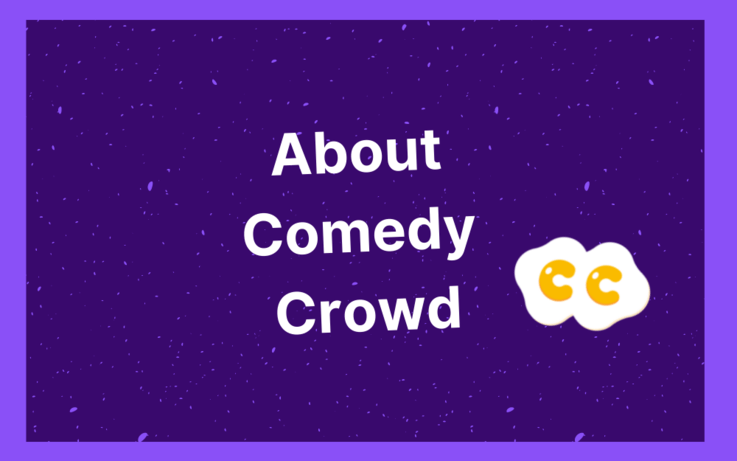 Text, about comedy crowd