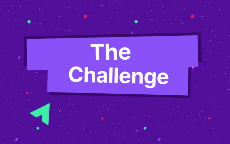 Text on image, the challenge