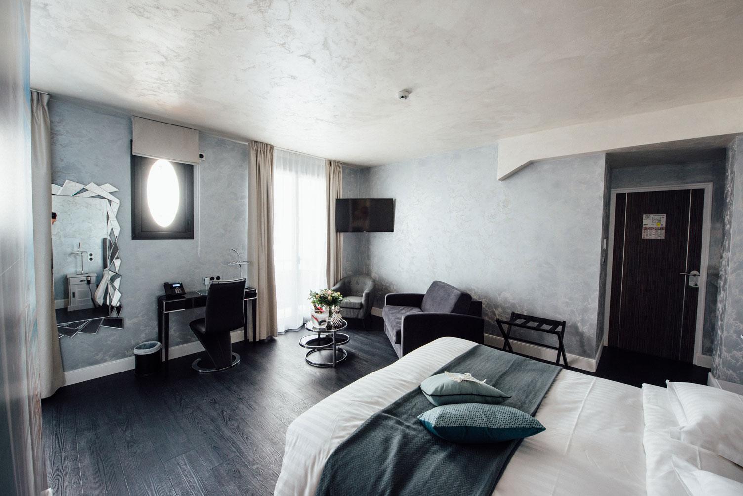 Suite Balnéo chambre intégrale | Amirauté Hôtel La Baule