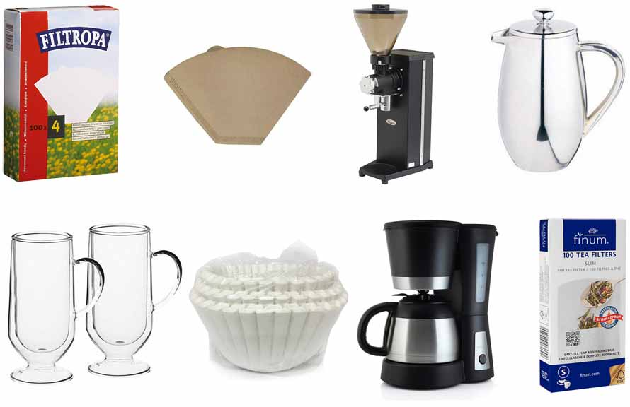 Distributor of coffee filter papers and hospitality accessories