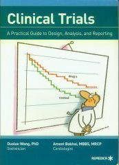 Cover of Clinical Trials book featuring a cartoon doctor