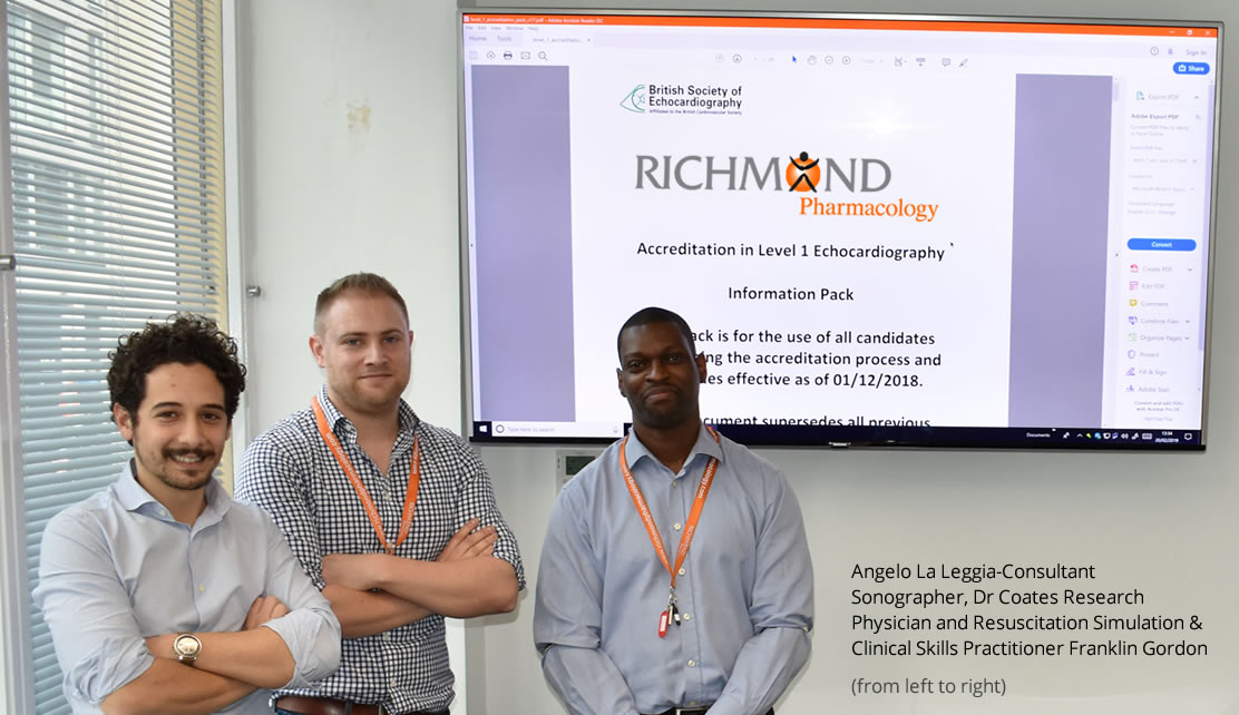 Echocardiography Course at Richmond Pharmacology