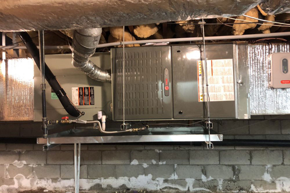 furnace installation in san diego home