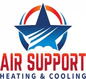 air support heating and cooling logo