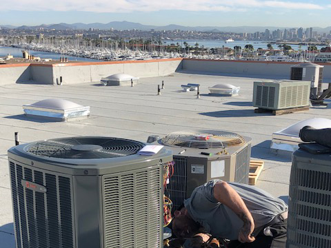 commercial air conditioning unit in san diego
