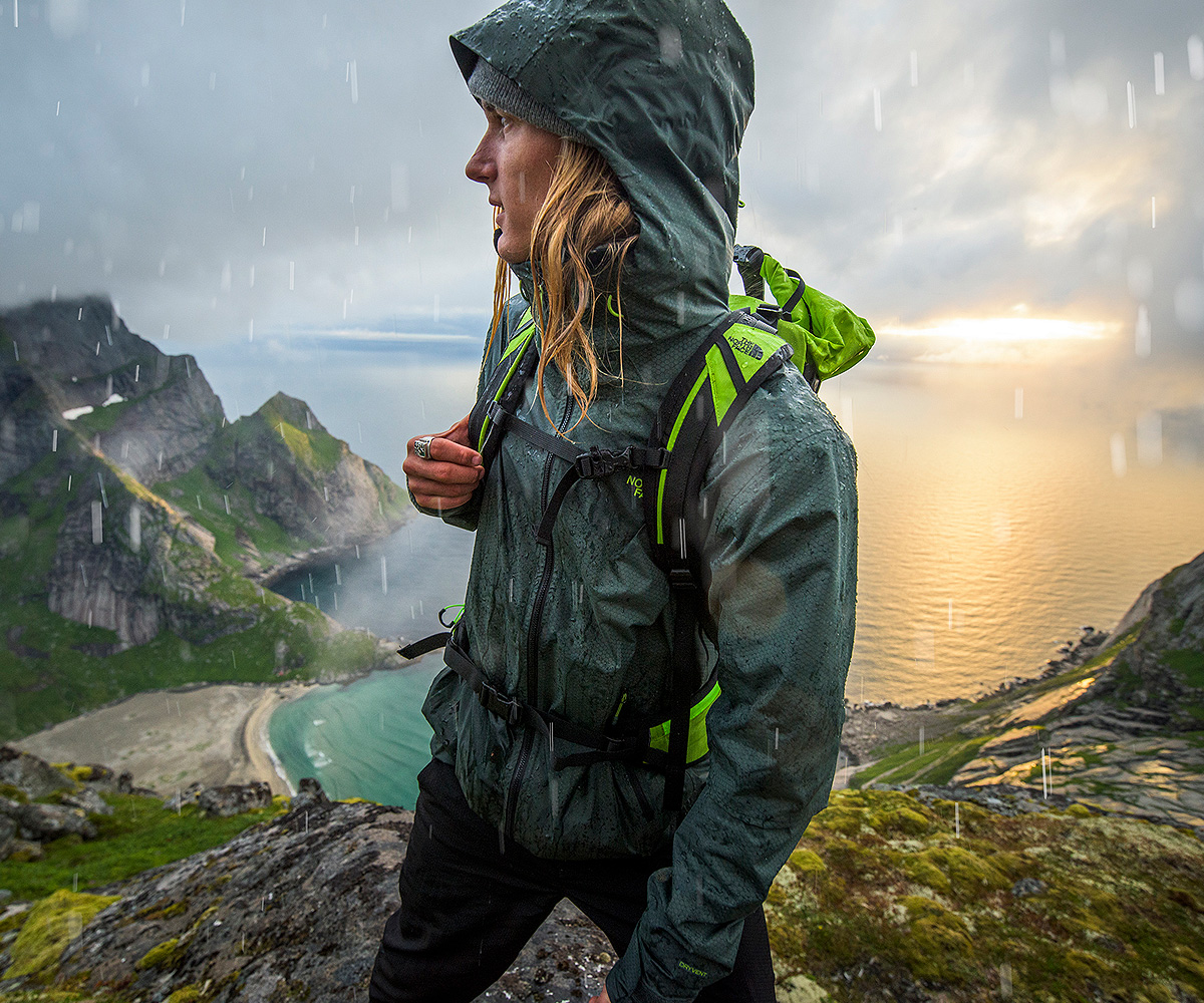 The North Face athlete hiking