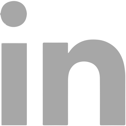 LinkedIn icon in grey