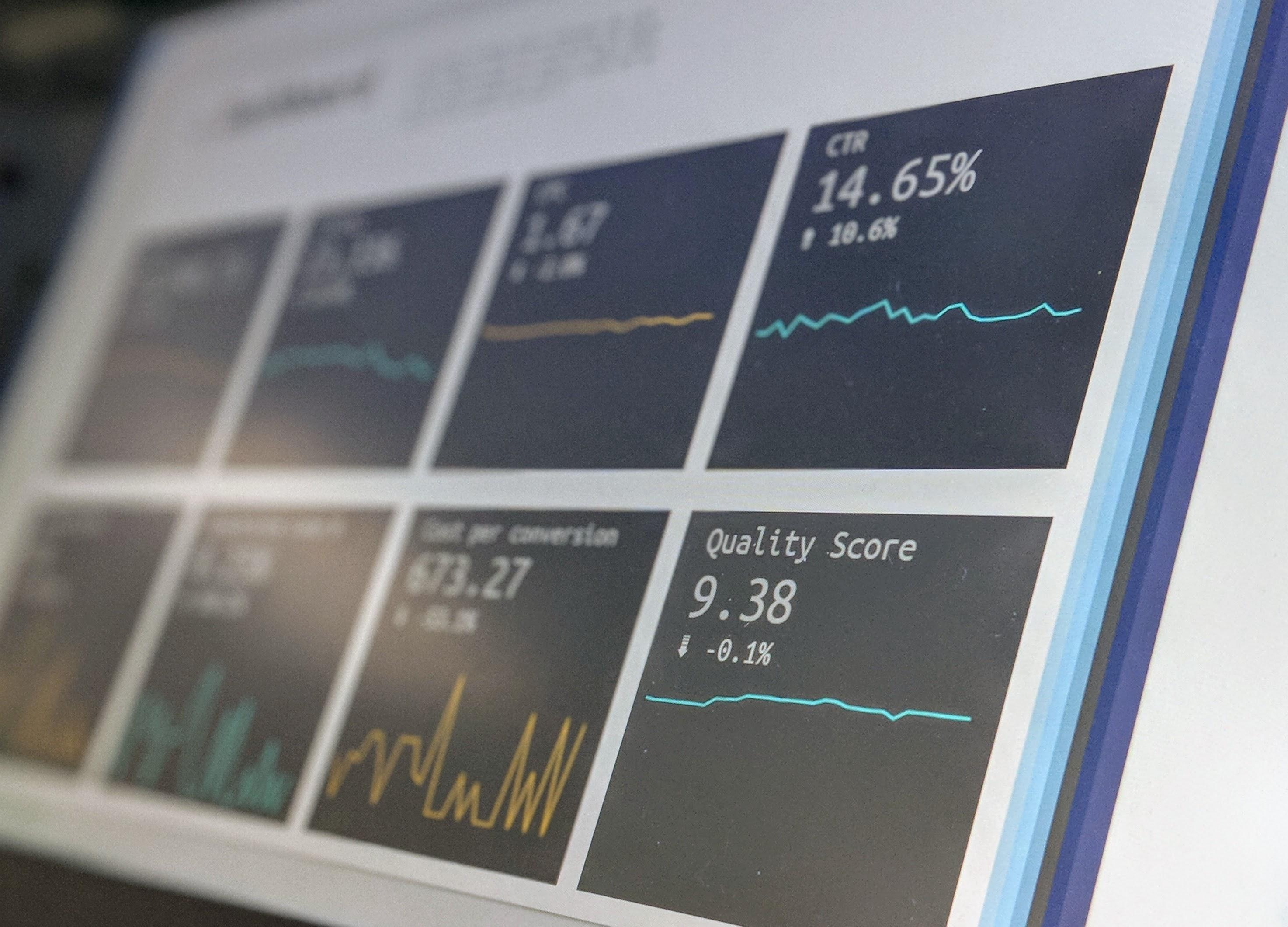 snapshot of an analytics dashboard