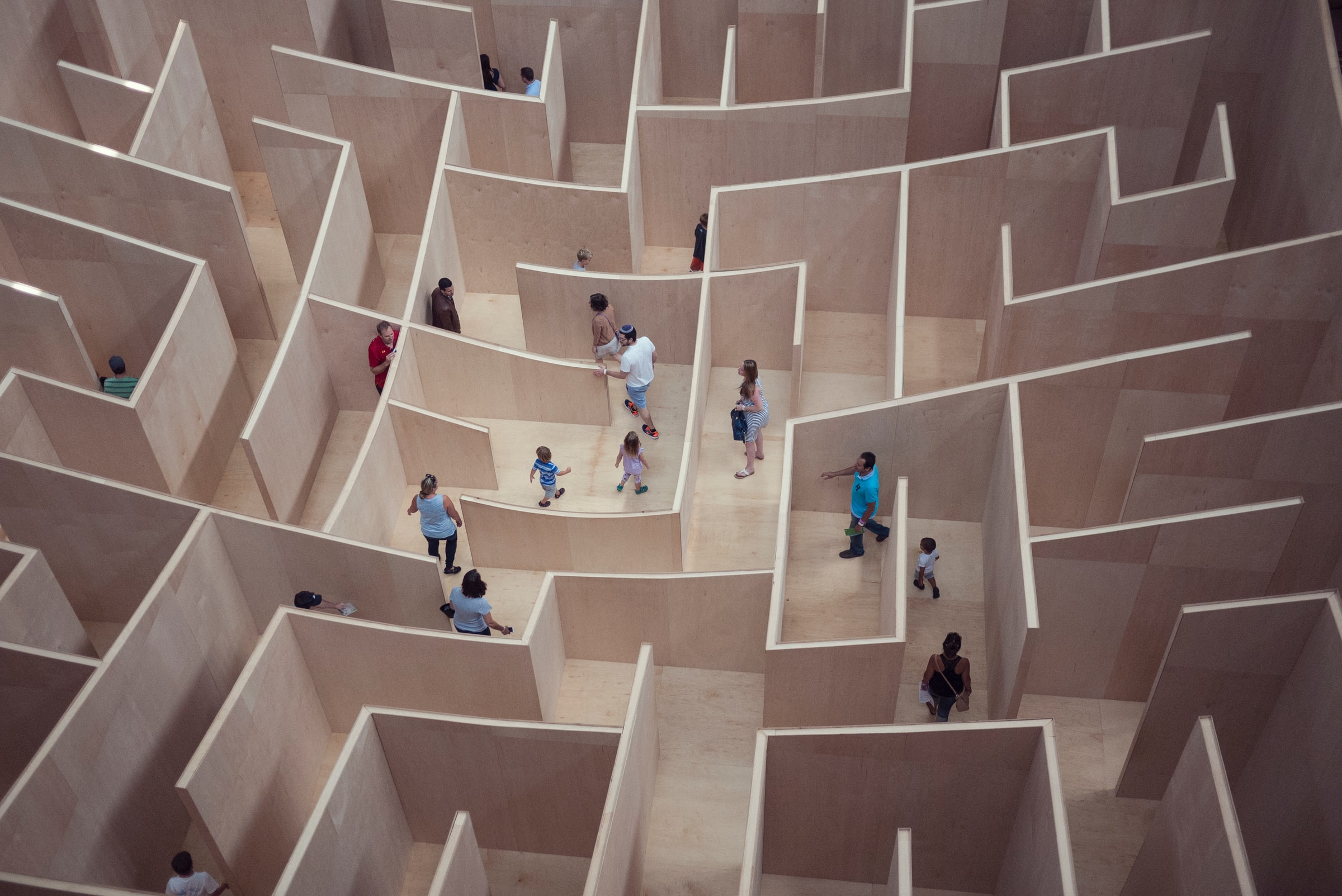 People lost in a maze