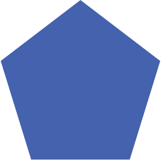 blue pentagon icon