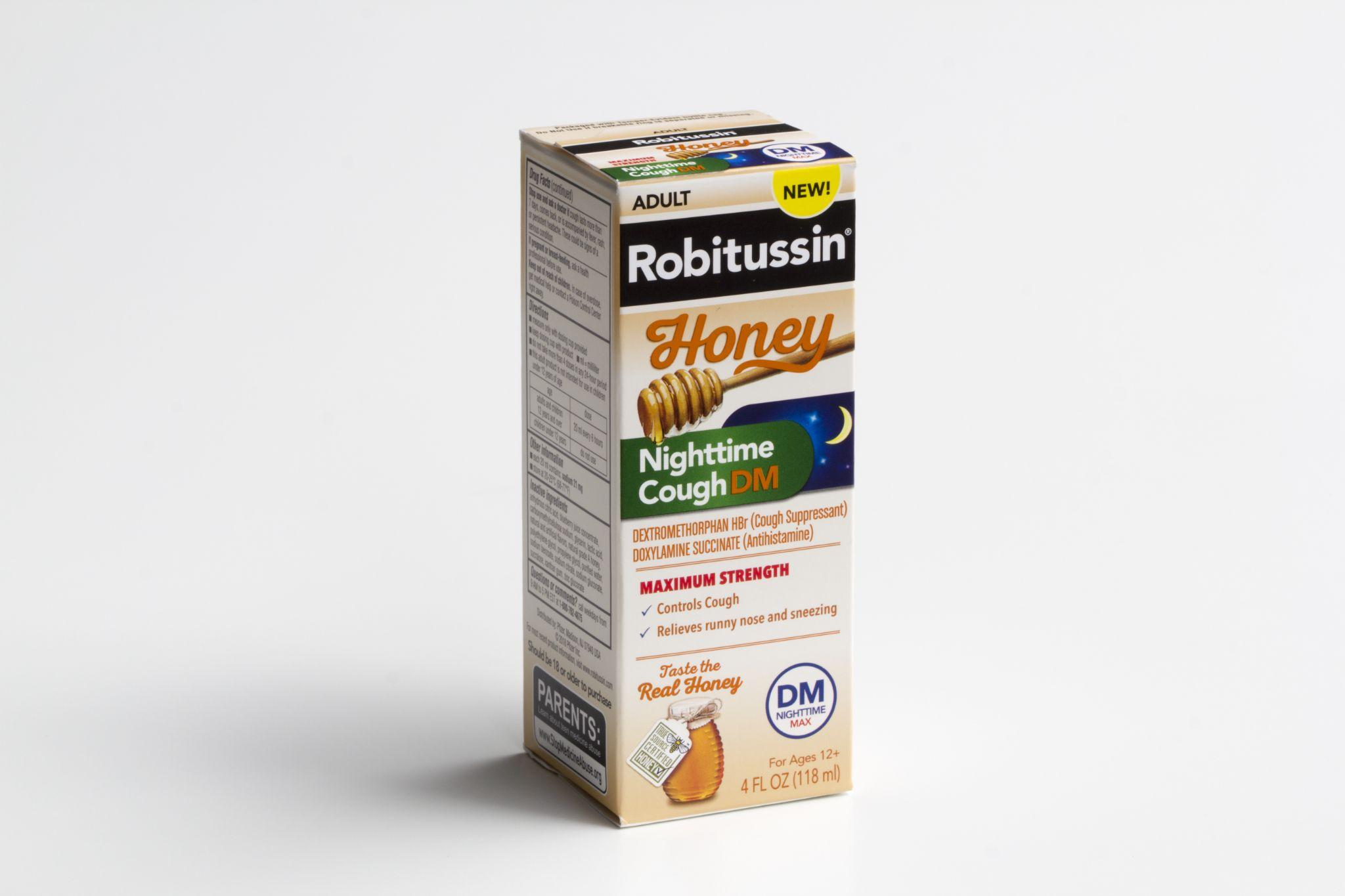 A pack of Robitussin Honey