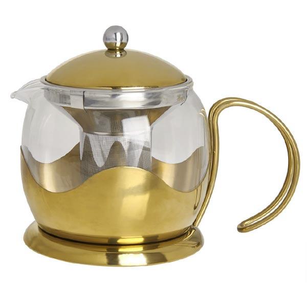 Le Teapot Brushed Gold (660ml)