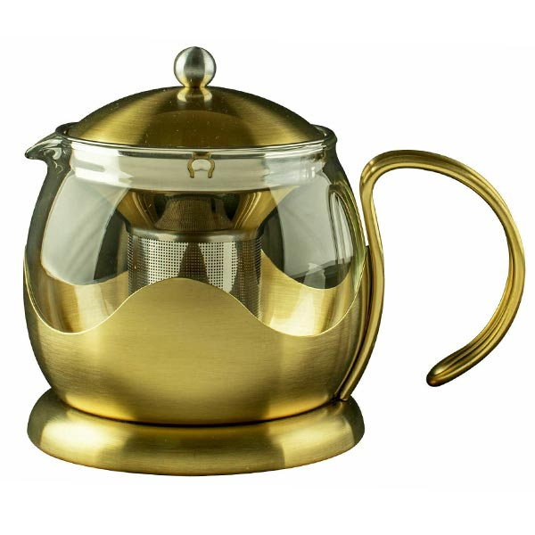 Le Teapot Brushed Gold (1.2L)