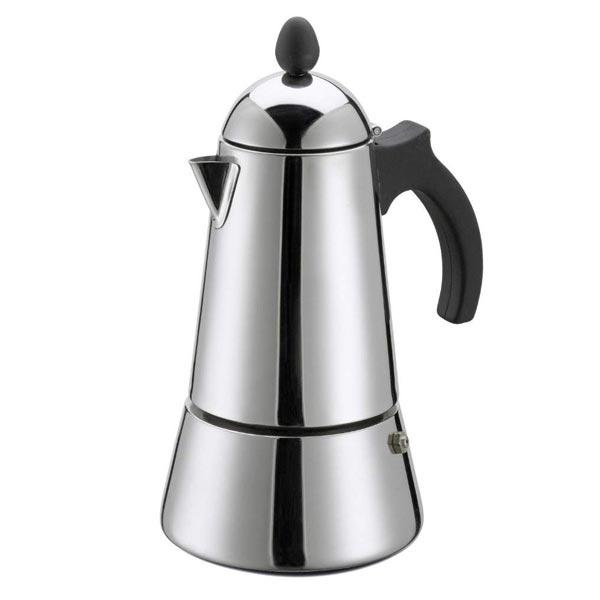 10 Cup Konica Stainless Steel Italian Induction Espresso Maker