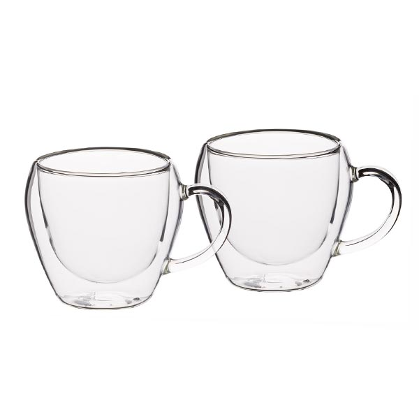 Le'Xpress Double Walled Glass Teacups